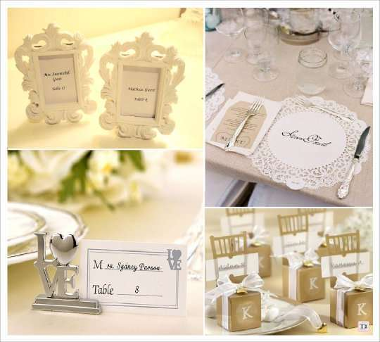 Decoration mariage baroque marque place - Mariage marque place ...