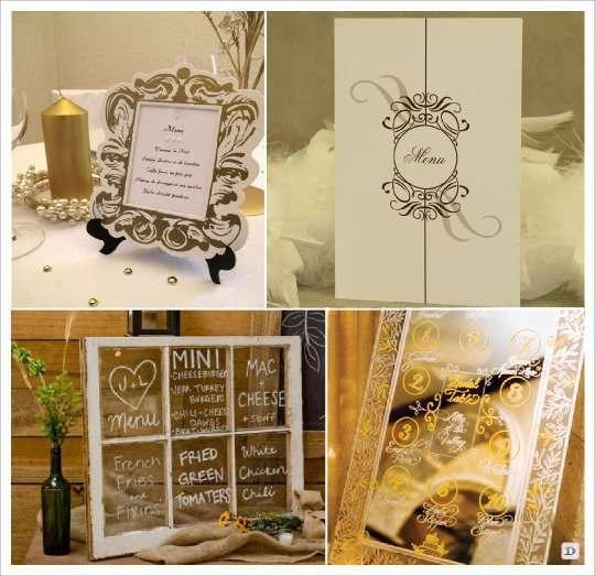 decoration mariage baroque menu baroque. Black Bedroom Furniture Sets. Home Design Ideas