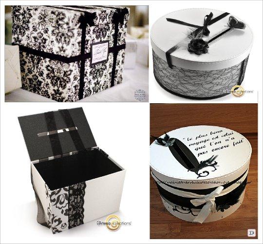 urne mariage boite ronde papier mache boie chapeau