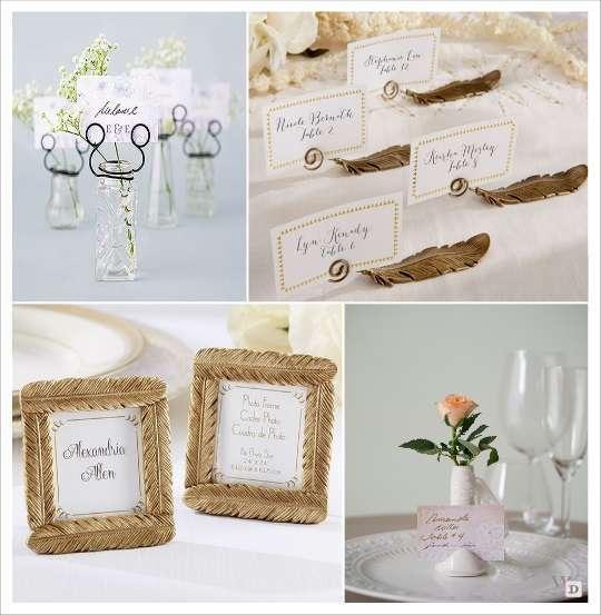mariage boheme marque place vase cadre avec plume