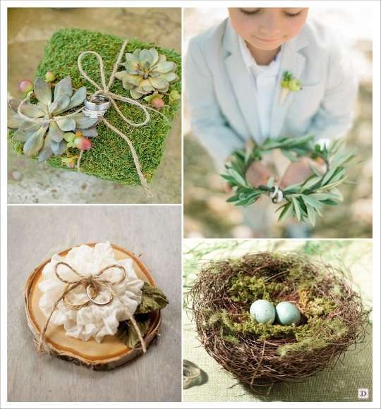 Decoration mariage boheme - Porte alliance champetre ...