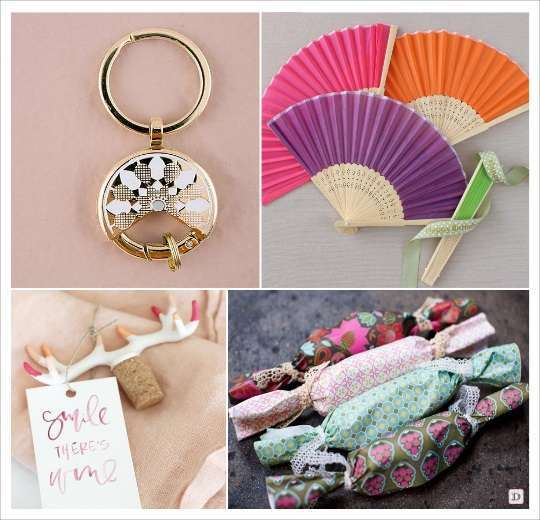 decoration mariage bohème cadeaux aux invites eventail porte clé attrape reves pochons bonbons tissu imprime bouchon stopper corne