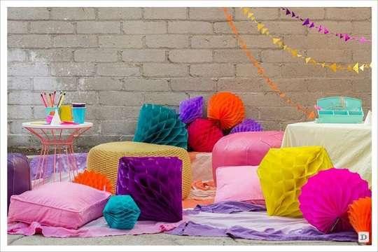 decoration salle boule en papier à poser
