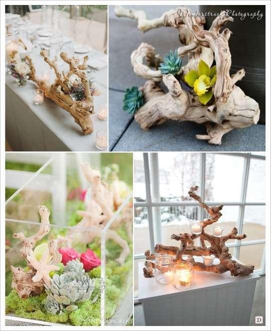 decoration de table mariage branche cep de vigne