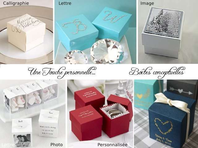 boite dragees cubemariage personnalise - Drages Personnalises Mariage