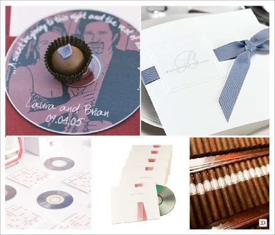 cadeaux invites mariage cd cigare