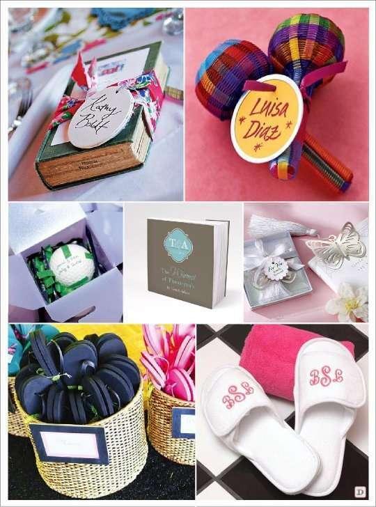 cadeaux invites mariage tongs bloc note livre