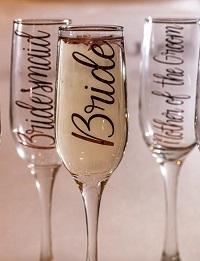flute champagne gravée mariage