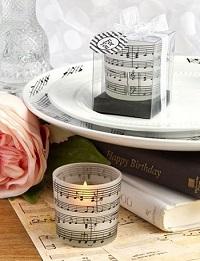 photophore partition de musique cadeau invité
