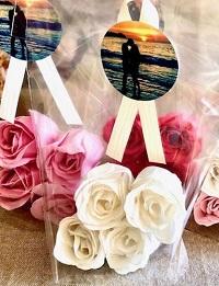petales de rose savon soluble cadeau invité