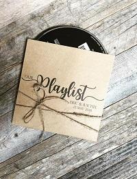 pochette cd musique cadeau invité