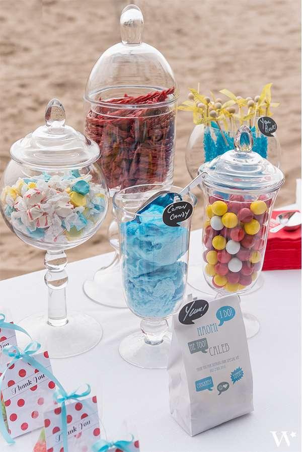 bonbonniere en verre candy bar quel bonbon