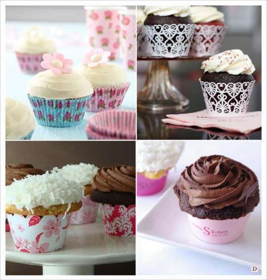 Idees candy bar - Deco pour cupcake ...