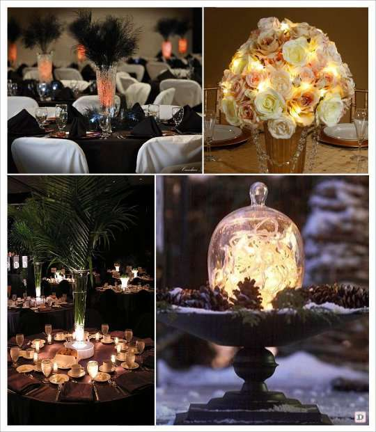 decoration lumineuse table mariage. Black Bedroom Furniture Sets. Home Design Ideas