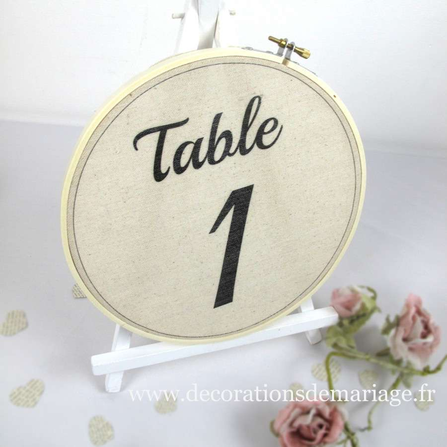 numero table mariage cercle a broder
