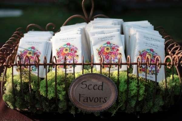 cadeaux aux invités mariage champetre sachets semences