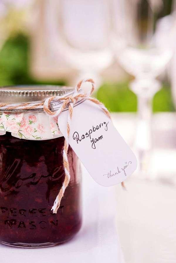 cadeaux invites mariage champetre pot de confiture