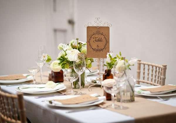 decoration table mariage champetre toile de jute