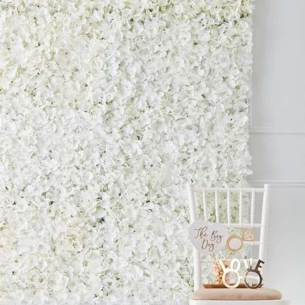 Mur de fleur decoration salle mariage champetre