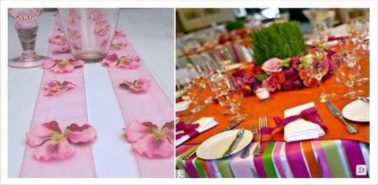 decoration table mariage rubans