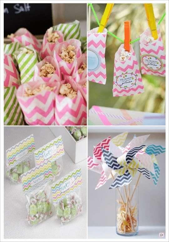 decoration mariage chevron sac en papier goodie bags moulin a vent