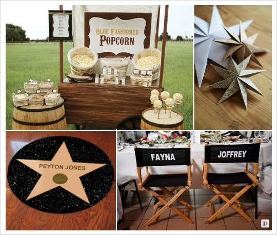 decoration salle mariage cinema candy bar pop corn siege metteur en ...