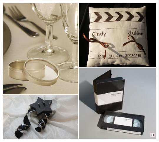 Mariage theme cinema idees - Support alliances mariage ...