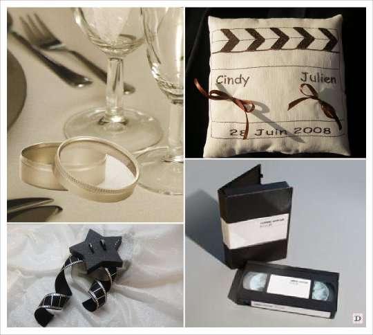 mariage theme cinema idees. Black Bedroom Furniture Sets. Home Design Ideas