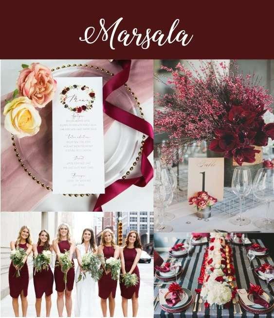 couleur mariage 2020 marsala bordeaux decoration mariage