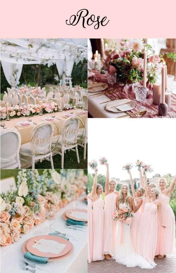 couleurs mariage rose pastel deco