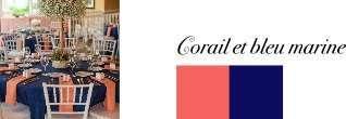 couleur mariage corail et bleu marine