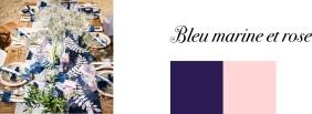 couleur mariage bleu marine et rose