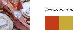 mariage couleur terracotta et or