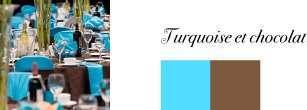 couleurs mariage chocolat bleu turquoise