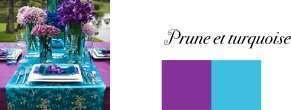couleurs mariage violet prune bleu turquoise