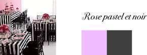 couleurs mariage noir rose pastel
