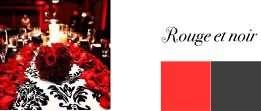 couleurs mariage noir rouge