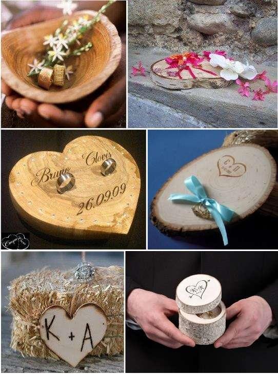 Idees porte alliances mariage - Porte alliance en bois ...