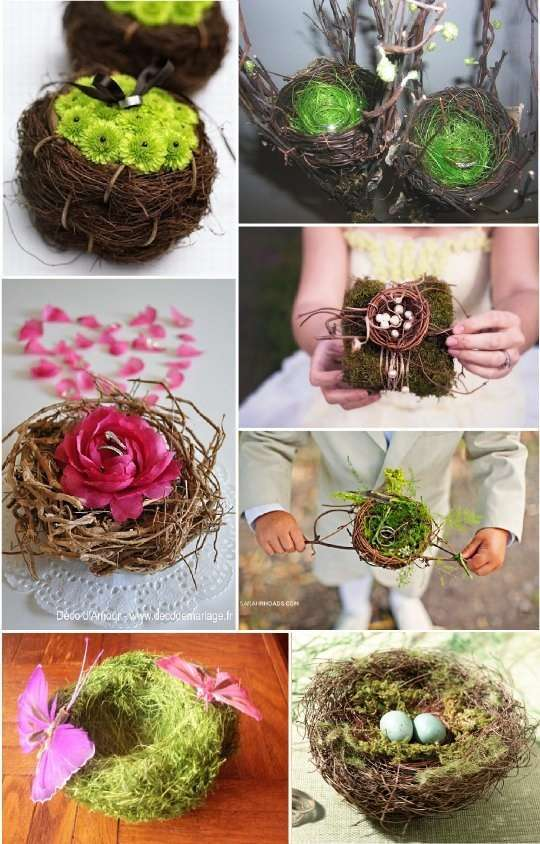 porte alliance vegetal composition florale nid