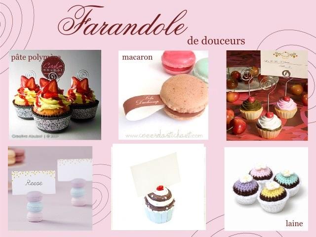 mariage gourmand marque place macaron cupcake