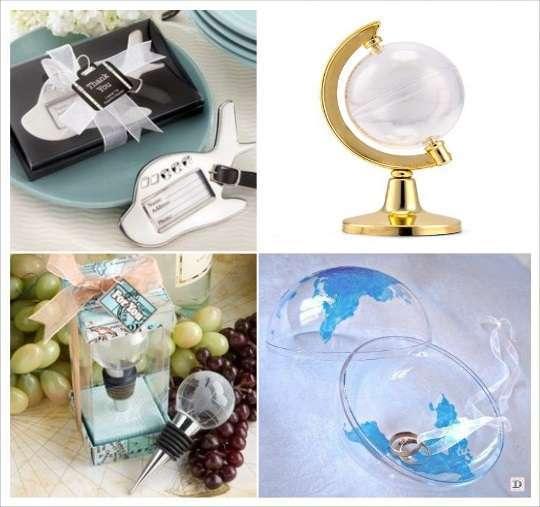 decoration mariage voyage cadeau invite contenant globe bouchon stopper étiquette à bagage