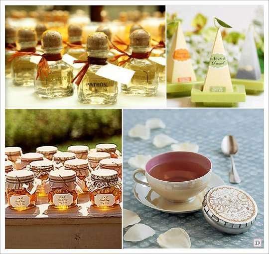 mariage hiver cadeau gourmand mignonette alcool the miel
