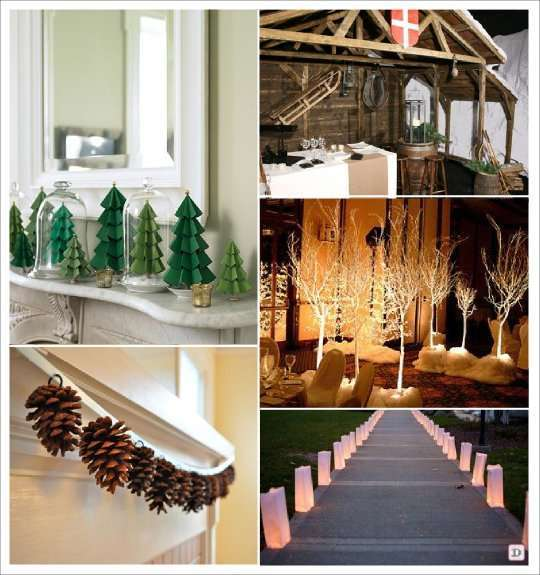 Deco mariage theme hiver idees for Centre de table cinema