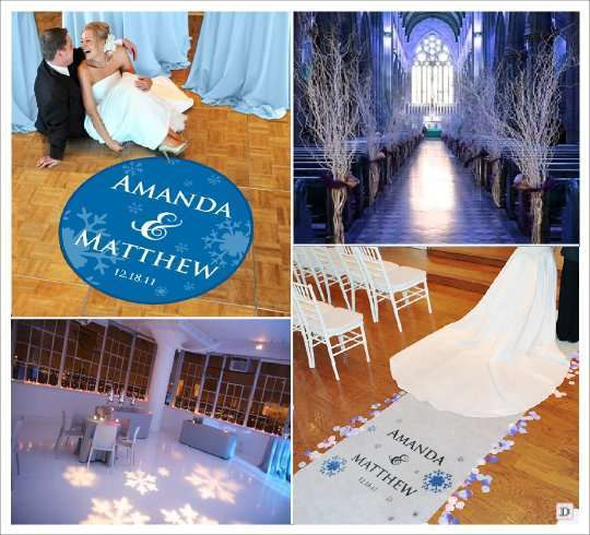 Deco mariage theme hiver idees - Tapis personnalise mariage ...
