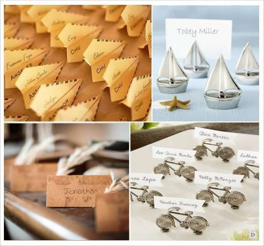 decoration mariage voyage marque place avion velo voilier