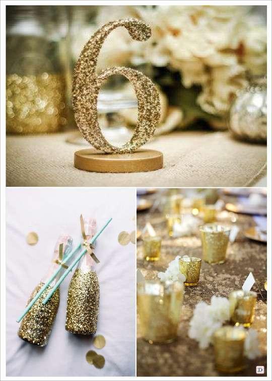 decoration mariage strass paillette id es et d 39 inspiration sur le mariage. Black Bedroom Furniture Sets. Home Design Ideas