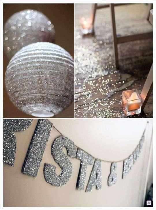 d u00e9coration mariage paillet u00e9 glitter
