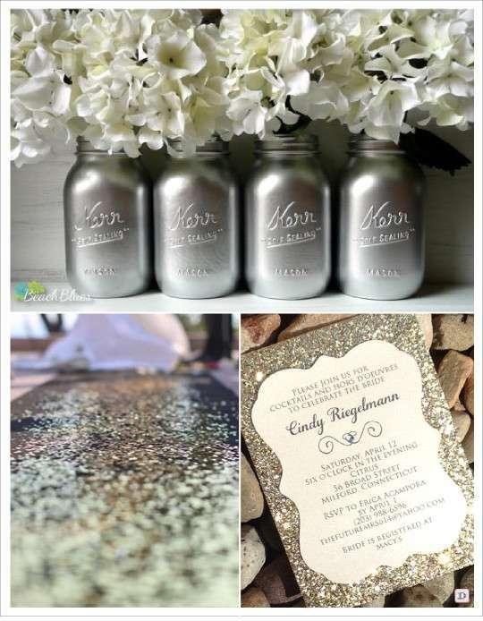 Mariage tendance paillet glitter d corations de mariage - Paillette pour peinture ...