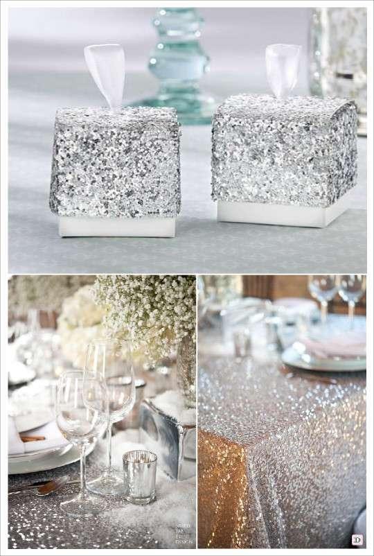 D coration mariage paillet glitter for Chemin de table beige
