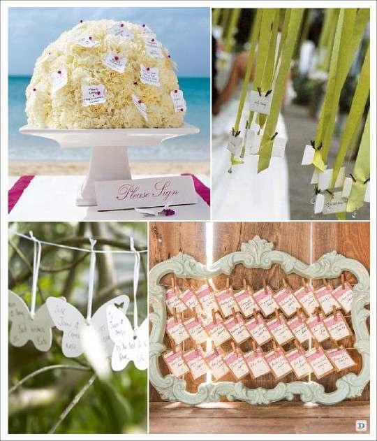 livre d'or mariage original bouquet champêtre fil à linge ruban suspendu arbre à voeux epingle